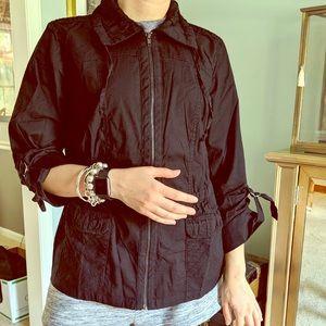 Ruched Black Jacket